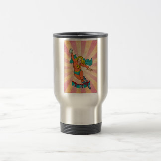 Super Cell Phone Girl/Woman Coffee Mugs