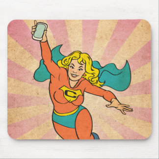 Super Cell Phone Girl Woman Mousepads