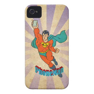 Super Cell Phone Man iPhone 4 Covers