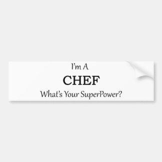 Super Chef Bumper Sticker