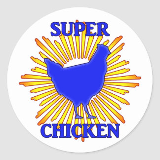 Super Chicken Classic Round Sticker