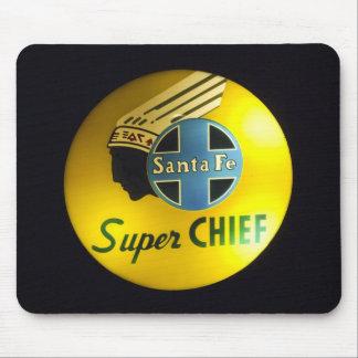 Super Chief Railroad Sign Mousepad