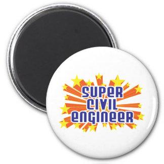 Super Civil Engineer 6 Cm Round Magnet