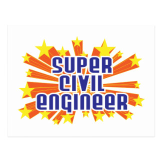 Super Civil Engineer Postcard