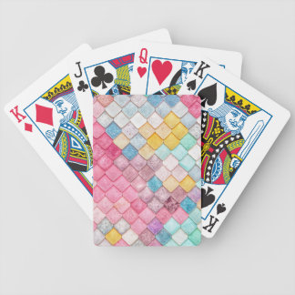 Super Colorful Tile Pattern Bicycle Playing Cards