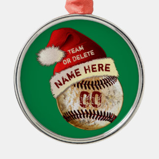 Super Cool Baseball Player Ornaments, Personalized Christmas Ornament