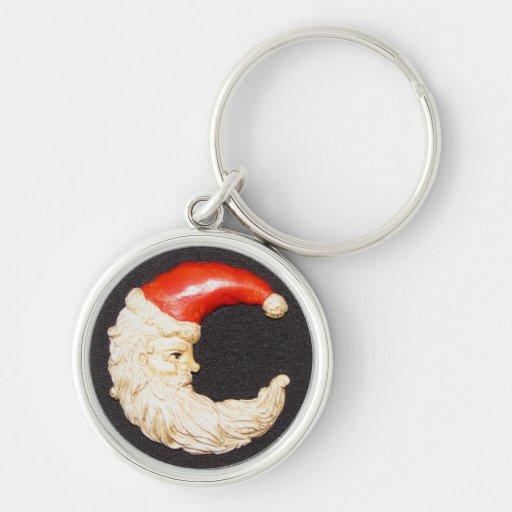Super Cool Classic Round Santa Claus Key Chain
