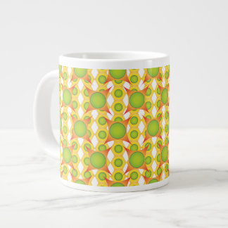 Super cool & crazy orange and green pattern mug