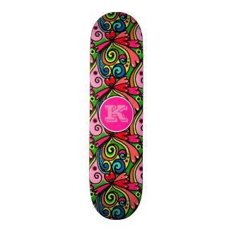 Super Cool Girly Graffiti w/Monogram 21.6 Cm Skateboard Deck