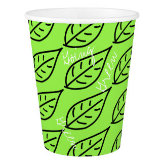 Super Cool Going Green Leaf Paper Cup