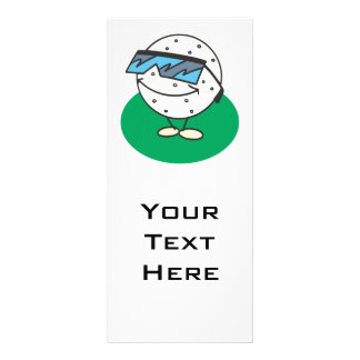 super cool golfball wearing sunglasses full color rack card