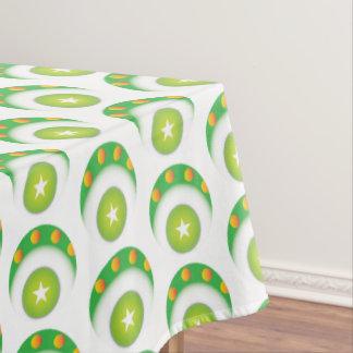 Super cool green circular star patterns tablecloth