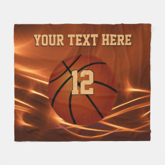 Super Cool Personalized Basketball Throw Blanket