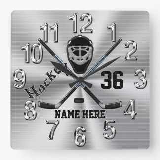 Super Cool PERSONALIZED Hockey Clock for Boys