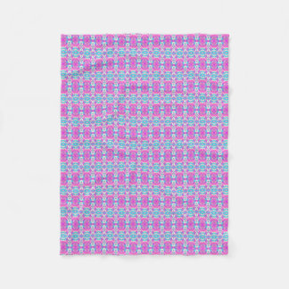 SUPER COOL Pink and Blue Pattern Fleece Blanket