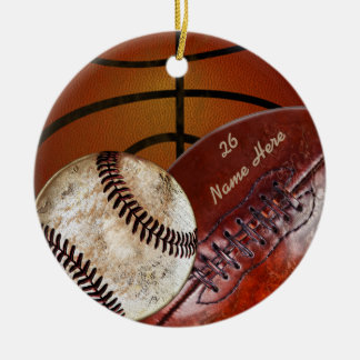 Super Cool Vintage Personalized Sports Ornaments