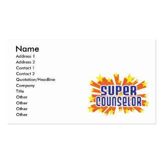 Super Counselor Pack Of Standard Business Cards