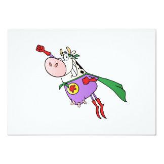 Super Cow Cartoon Card