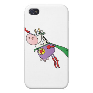 Super Cow Cartoon Character iPhone 4 Cover