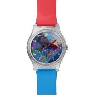 Super Crayon Colored Silhouette Skateboarder Watch