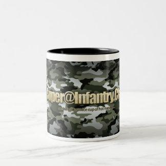 SUPER@ Cup of napalm Two-Tone Mug