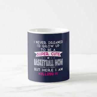 SUPER CUTE A BASKETBALL MOM COFFEE MUG
