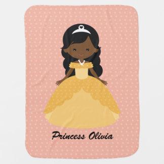 Super Cute Afro American Princess Baby Blanket