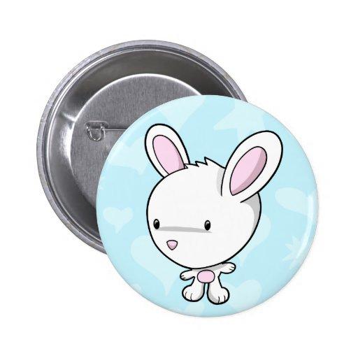 Super Cute Baby Bunny Rabbit Button