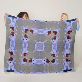 Super Cute Baby Unicorn Mandala Pattern Fleece Blanket