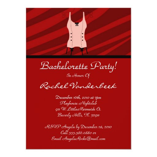 Super Cute Bachelorette Party 17 Cm X 22 Cm Invitation Card