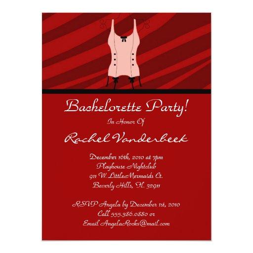 Super Cute Bachelorette Party Custom Announcement