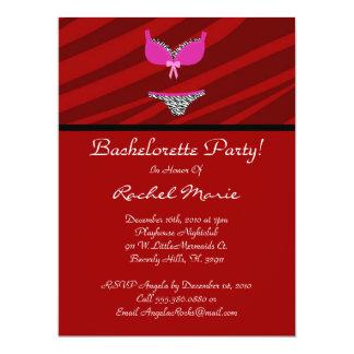"""Super Cute Bachelorette Party 6.5"""" X 8.75"""" Invitation Card"""