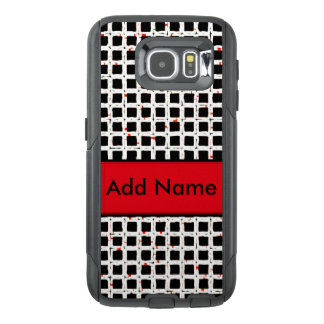 Super Cute Black White Red Pattern Chic OtterBox Samsung Galaxy S6 Case