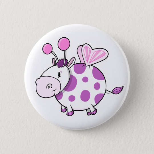 Super Cute Butterfly Fairy Cow Button