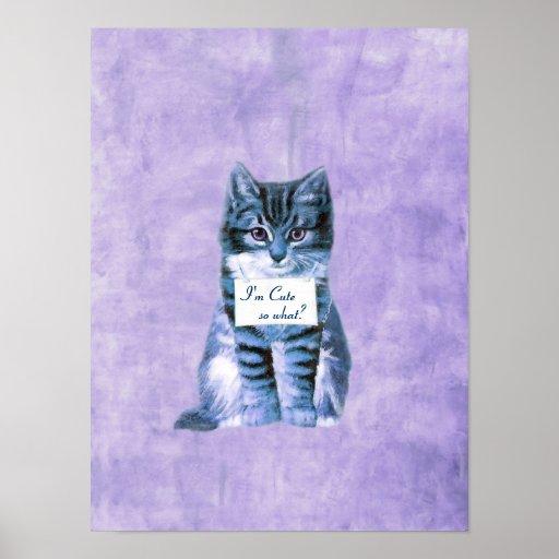 Super Cute Cat print - poster