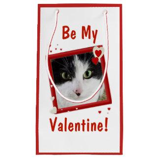 Super Cute Cat Valentine Small Gift Bag