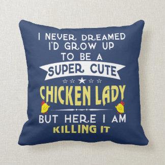 Super cute Chicken lady Cushion