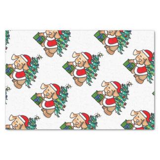 Super Cute Christmas Dog Tissue paper