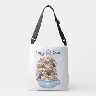 Super Cute Crazy Cat Lover Crossbody Bag