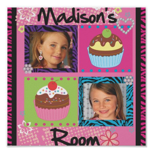 Super cute girls room  personalized photo posters!