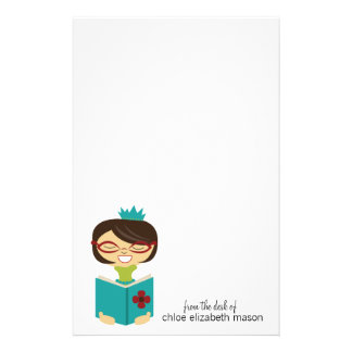 Super Cute Girly Girl Princess Bookworm Stationery