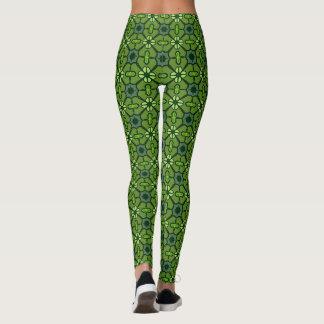 Super Cute Green Retro Leggings