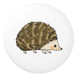 super cute hedgehog ceramic knob