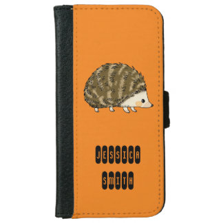 super cute hedgehog iPhone 6 wallet case