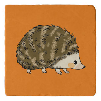 super cute hedgehog trivet