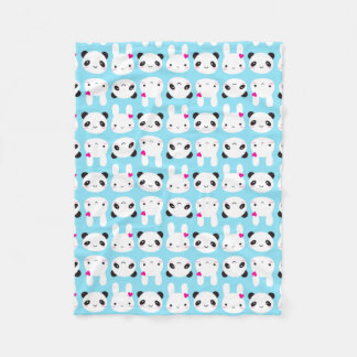 Super Cute Kawaii Bunny and Panda Fleece Blanket