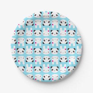 Super Cute Kawaii Bunny and Panda Paper Plate
