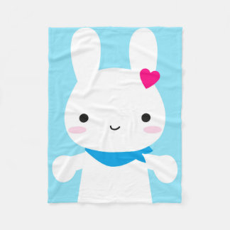 Super Cute Kawaii Bunny Fleece Blanket