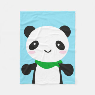 Super Cute Kawaii Panda Fleece Blanket
