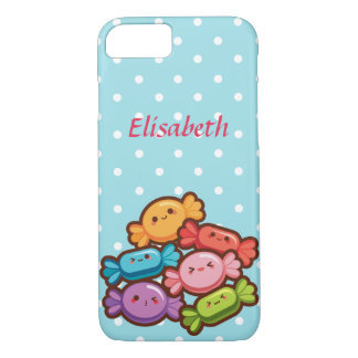 Super cute kawaii rainbow CANDIES DOTS monogram iPhone 8/7 Case